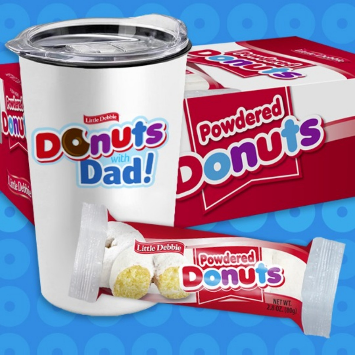 Little Debbie Donuts with Dad Gift Set