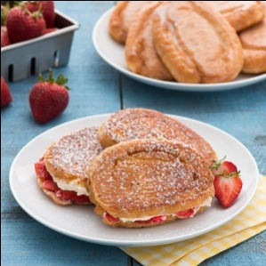 Honey Bun Strawberry French Toast