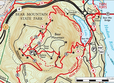 Bear Mountain State Park - Bear Mountain, New York-New Jersey Map