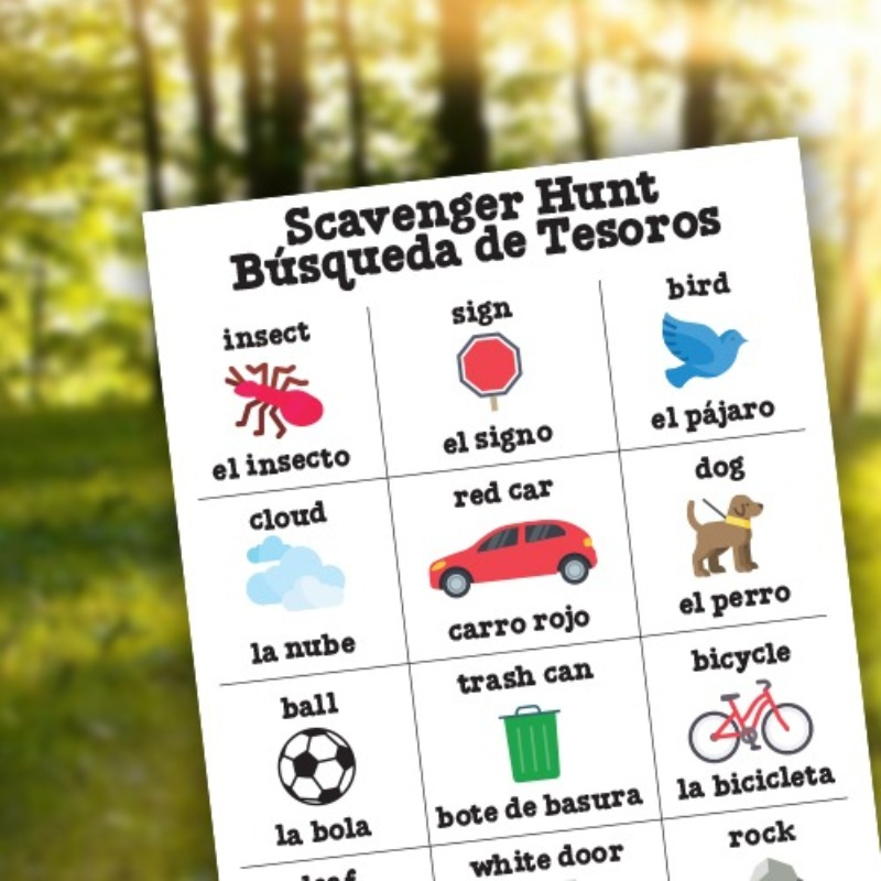 Outdoor Fun Go on a scavenger hunt!