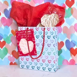 Valentine decorated bag made out of Little Debbie box.