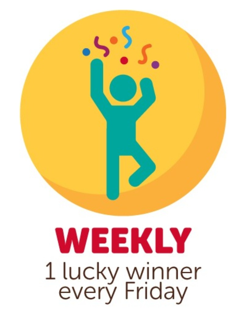 A new winner every Friday!