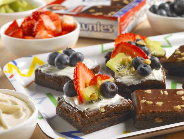 Fudge Brownie Fruit Bites