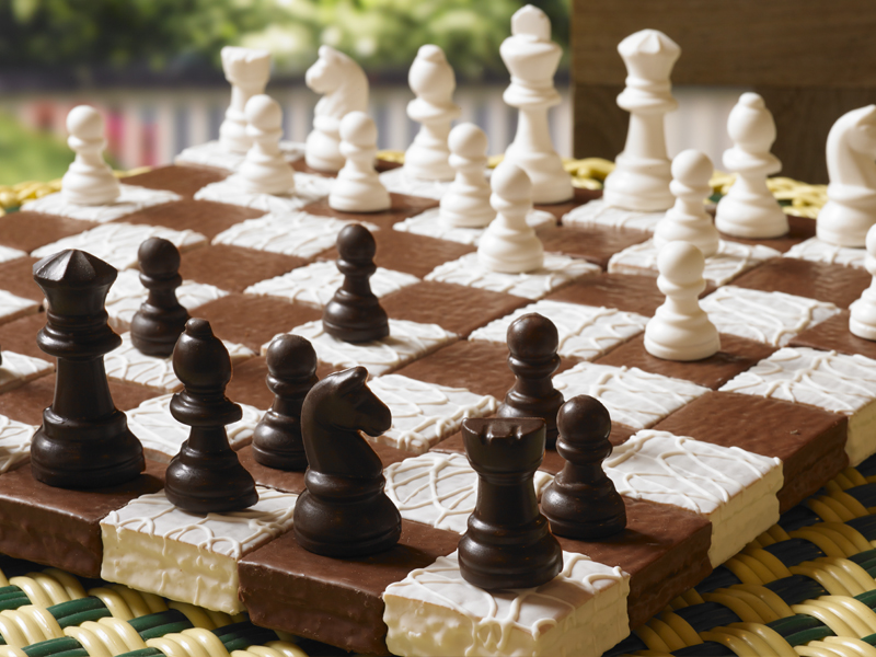 Devil Squares® & Fancy Cakes® Chess Set