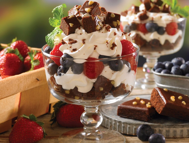 Fudge Brownies Trifle