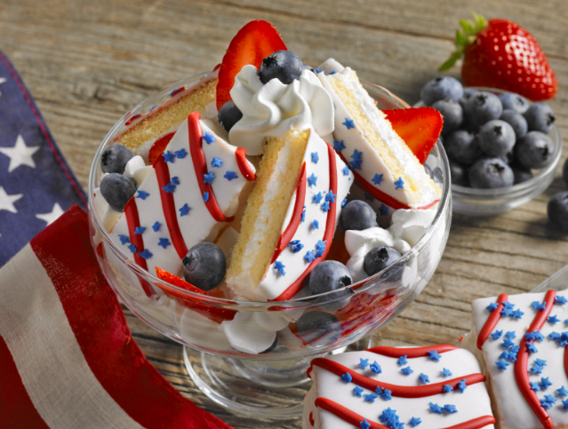 Red, White and Blue Patriotic Layer Cake