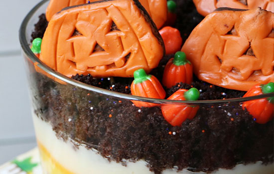 Celebrate Fall with a cute and tasty Little Debbie Pumpkin Patch Trifle!