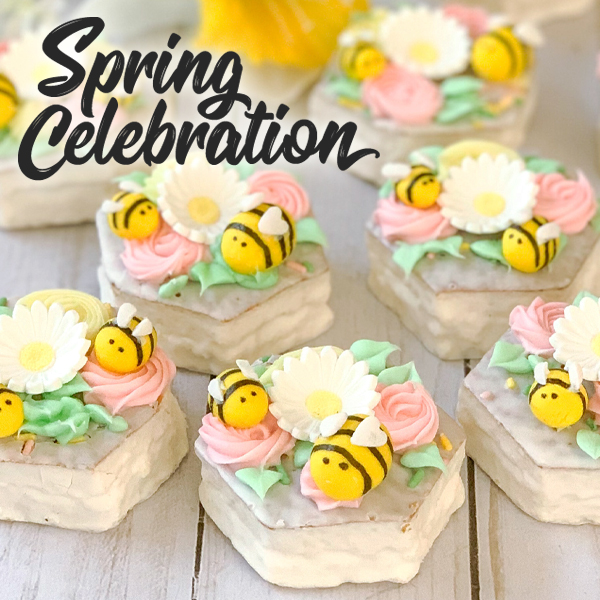 Welcome springtime with a celebration of all of our favorite treats and with our friend,  Party Pinching! From using our NEW Llama Brownies to using classics like Marshmallow Puffs and Easter Basket Cakes, there is something for everyone to enjoy. Check out these fun recipes!